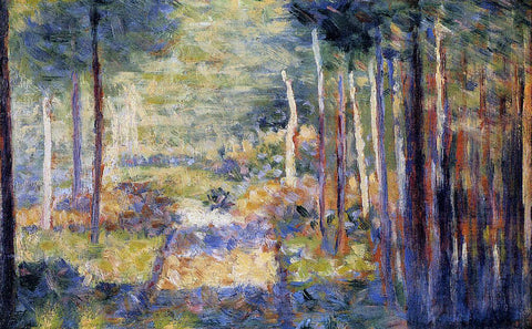 Georges Seurat Forest Path, Barbizon - Hand Painted Oil Painting