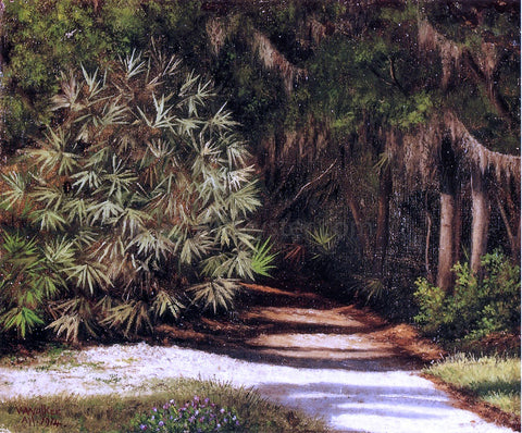 William Aiken Walker Forest Scene with Moss-Covered Trees and Bamboo - Hand Painted Oil Painting