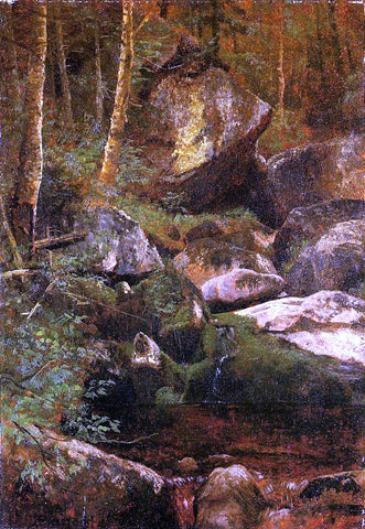 Albert Bierstadt Forest Stream - Hand Painted Oil Painting
