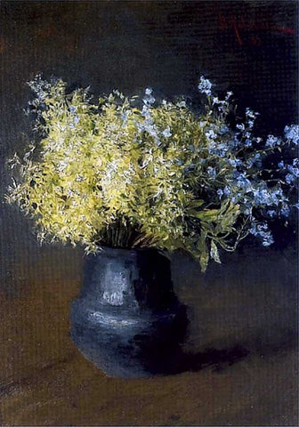 Isaac Ilich Levitan Forest Violets and Forget-Me-Nots - Hand Painted Oil Painting