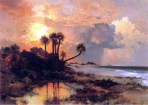 Thomas Moran Fort George Island (also known as Whistlejacket) - Hand Painted Oil Painting