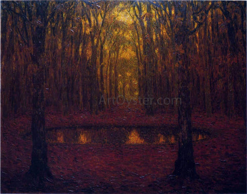 Henri Le Sidaner Fountain at Versailles in Autumn - Hand Painted Oil Painting