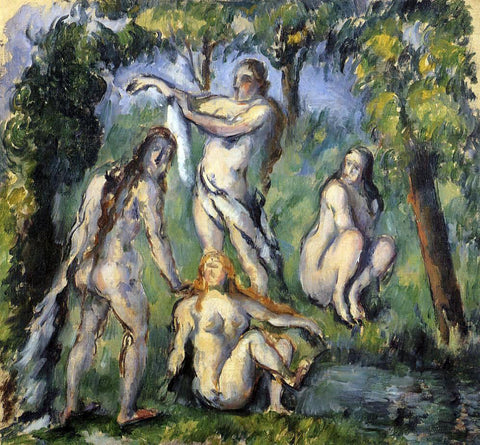 Paul Cezanne Four Bathers - Hand Painted Oil Painting