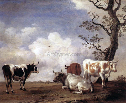 Paulus Potter Four Bulls - Hand Painted Oil Painting