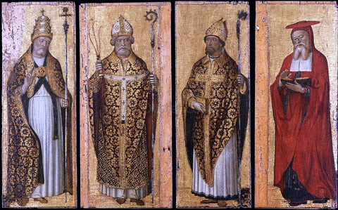 Carlo Braccesco Four Doctors of the Church - Hand Painted Oil Painting