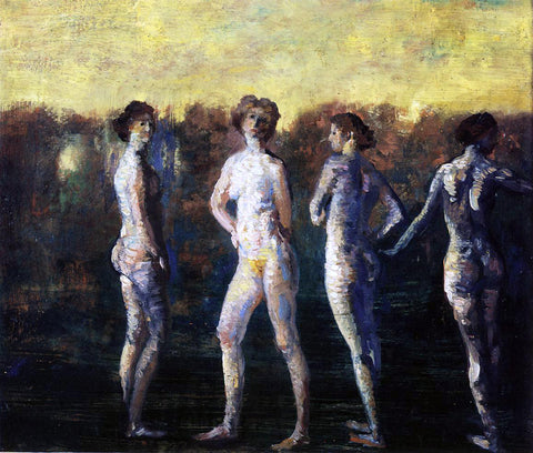 Arthur B Davies Four Figures - Hand Painted Oil Painting