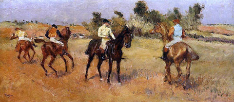 Edgar Degas Four Jockeys - Hand Painted Oil Painting