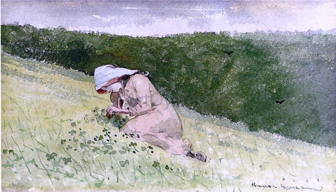 Winslow Homer Four Leaf Clover - Hand Painted Oil Painting