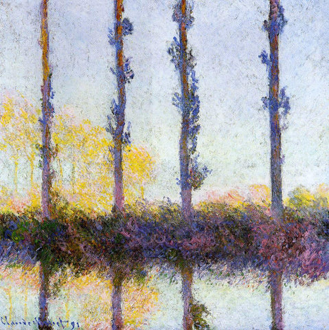 Claude Oscar Monet Four Trees - Hand Painted Oil Painting
