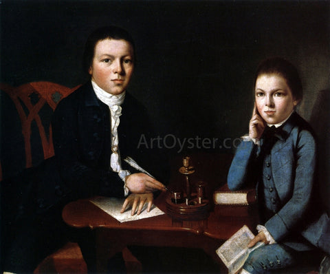 Gilbert Stuart Francis Malbone and His Brother Saunders - Hand Painted Oil Painting