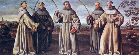 Bernardino Licinio Franciscan Martyrs - Hand Painted Oil Painting