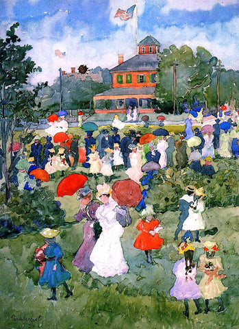Maurice Prendergast Franklin Park, Boston - Hand Painted Oil Painting