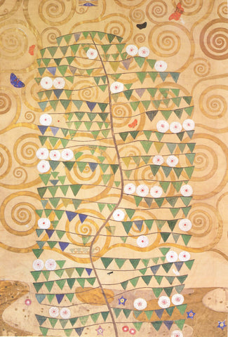 Gustav Klimt Frieze of the Villa Stoclet in Brussels Right Part of the Tree of Life - Hand Painted Oil Painting