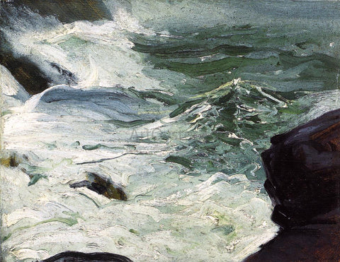 George Wesley Bellows From Rock Top, Monhegan - Hand Painted Oil Painting