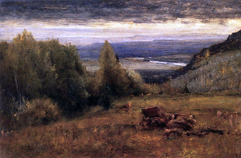 George Inness From the Sawangunk Mountains - Hand Painted Oil Painting