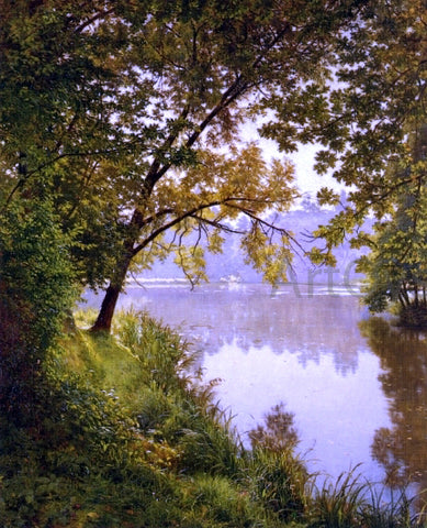 Henri Biva From the Water's Edge - Hand Painted Oil Painting