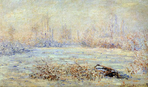 Claude Oscar Monet Frost - Hand Painted Oil Painting