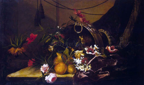 Jean-Baptiste Monnoyer Fruit and Flowers - Hand Painted Oil Painting