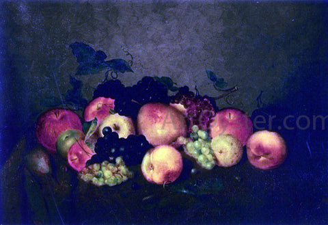 Charles Ethan Porter Fruit: Apples, Grapes, Peaches and Pears - Hand Painted Oil Painting