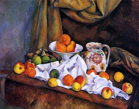 Paul Cezanne Fruit Bowl, Pitcher and Fruit - Hand Painted Oil Painting