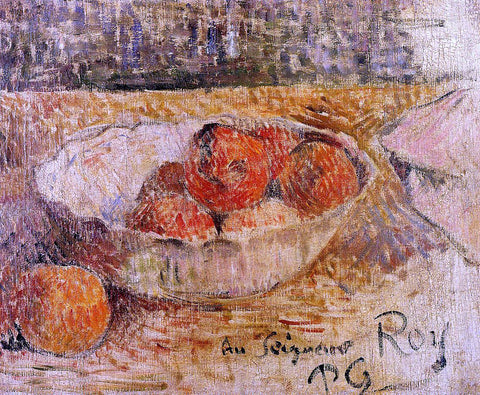 Paul Gauguin Fruit in a Bowl - Hand Painted Oil Painting