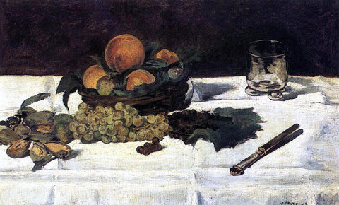 Edouard Manet Fruit on a Table - Hand Painted Oil Painting