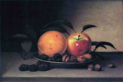 Raphaelle Peale Fruits and Nuts in a Dish - Hand Painted Oil Painting