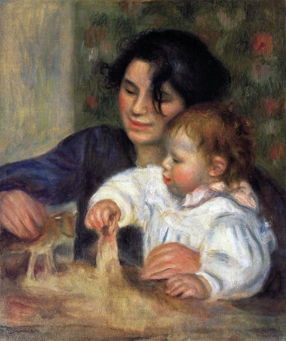 Pierre Auguste Renoir Gabrielle and Jean - Hand Painted Oil Painting