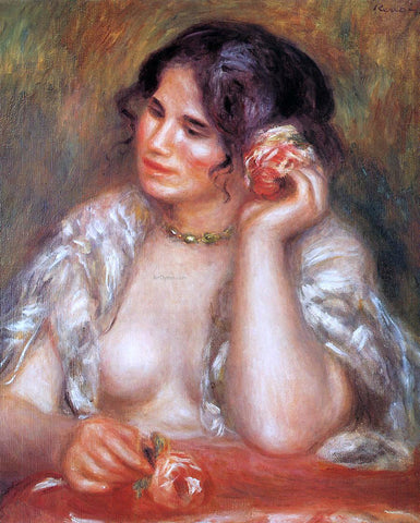 Pierre Auguste Renoir Gabrielle with a Rose - Hand Painted Oil Painting