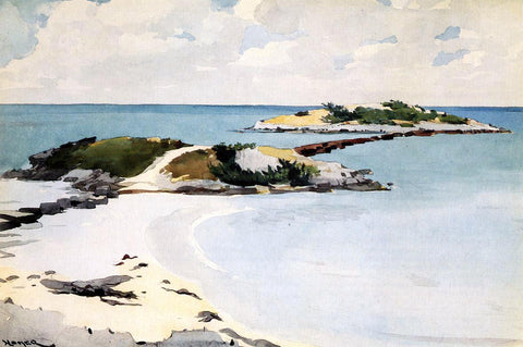 Winslow Homer Gallow's Island, Bermuda - Hand Painted Oil Painting