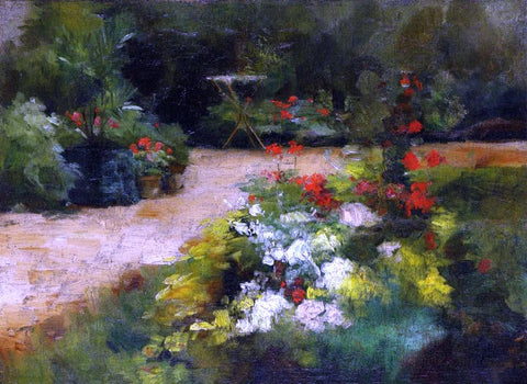 Gustave Caillebotte A Garden - Hand Painted Oil Painting