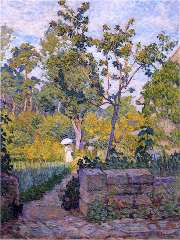 Henri Lebasque Garden at Champigny - Hand Painted Oil Painting