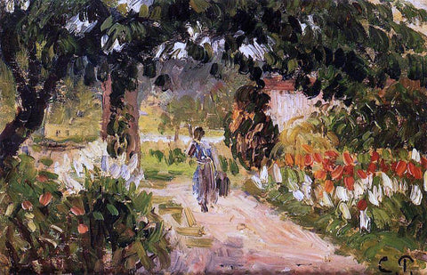 Camille Pissarro Garden at Eragny - Hand Painted Oil Painting