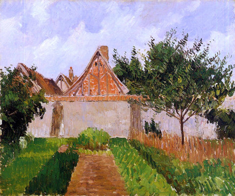 Camille Pissarro Garden at Eragny (study) - Hand Painted Oil Painting