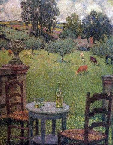 Henri Le Sidaner Garden at Gerberoy - Hand Painted Oil Painting