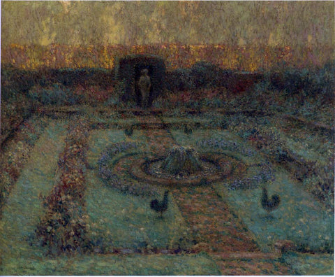 Henri Le Sidaner Garden at Hampton Court - Hand Painted Oil Painting
