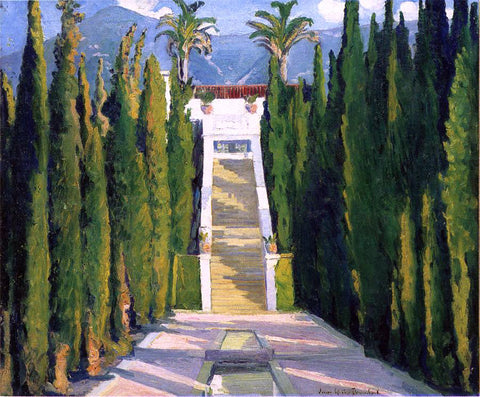 Louise Upton Brumback Garden at Santa Barbara - Hand Painted Oil Painting