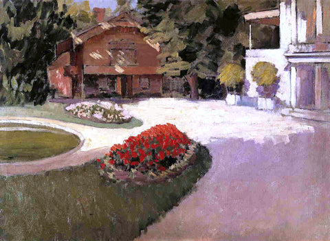 Gustave Caillebotte Garden at Yerres - Hand Painted Oil Painting