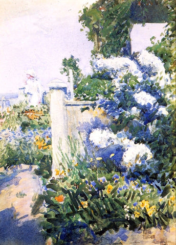 Frederick Childe Hassam A Garden by the Sea, Isles of Shoals - Hand Painted Oil Painting