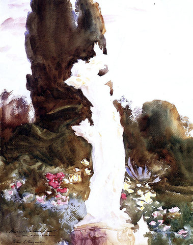 John Singer Sargent Garden Fantasy - Hand Painted Oil Painting