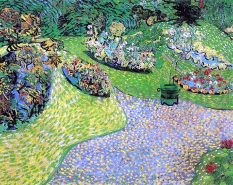 Vincent Van Gogh A Garden in Auvers - Hand Painted Oil Painting