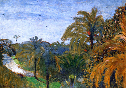 Edouard Vuillard Garden in Cannes - Hand Painted Oil Painting