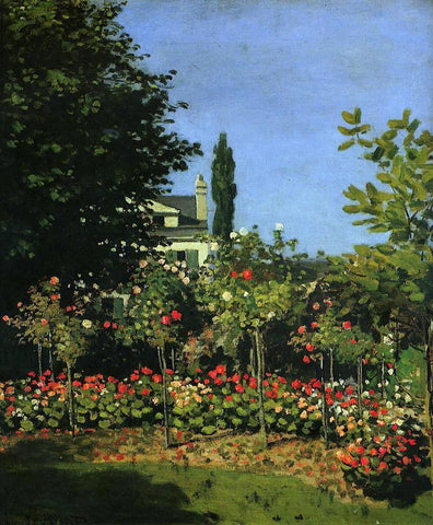 Claude Oscar Monet A Garden in Flower - Hand Painted Oil Painting