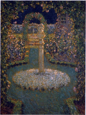 Henri Le Sidaner Garden in the Full Moon - Hand Painted Oil Painting