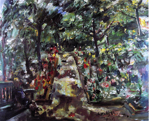 Lovis Corinth Garden in the West End of Berlin - Hand Painted Oil Painting