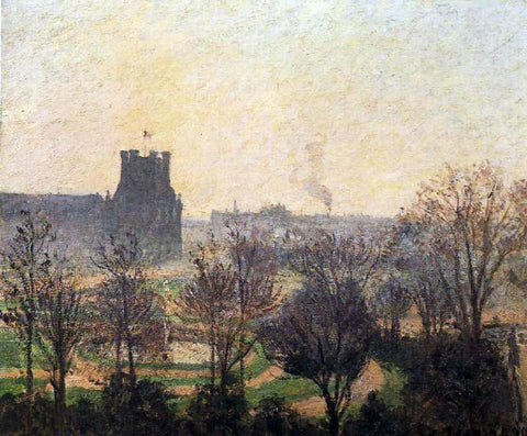 Camille Pissarro Garden of the Louvre: Fog Effect - Hand Painted Oil Painting