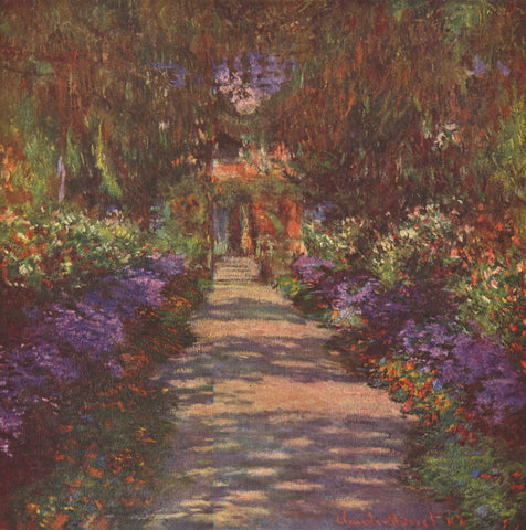 Claude Oscar Monet Garden Path - Hand Painted Oil Painting