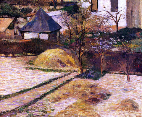 Paul Gauguin Garden View, Rouen - Hand Painted Oil Painting