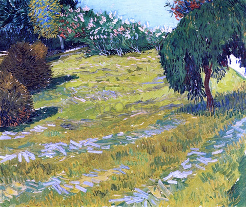 Vincent Van Gogh Garden with Weeping Willow - Hand Painted Oil Painting