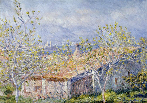 Claude Oscar Monet Gardener's House at Antibes - Hand Painted Oil Painting